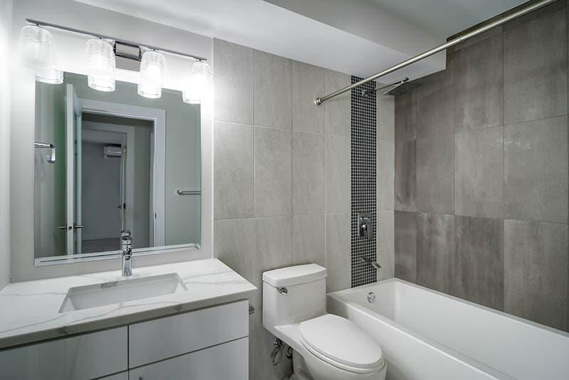 Custom Tile Work In Bathroom Renovation
