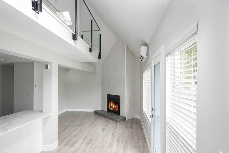 Renovated Loft And Fireplace With Feature Tile
